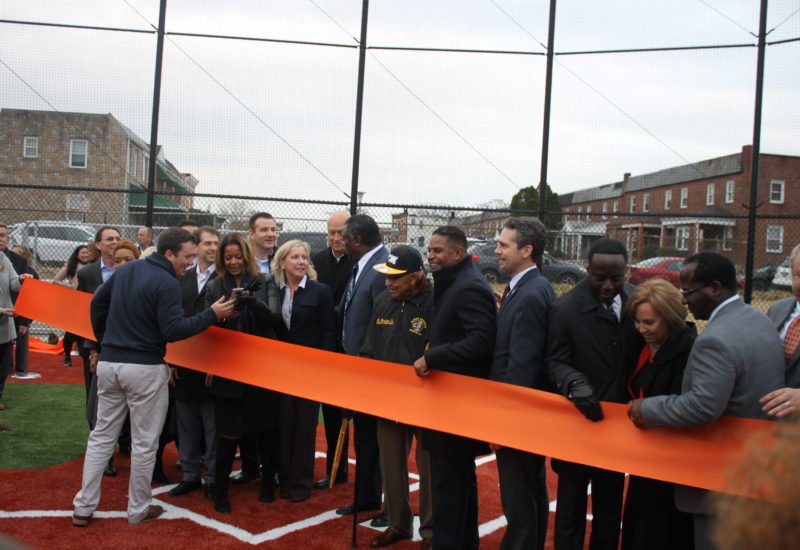 Eddie Murray Field ribbon cutting