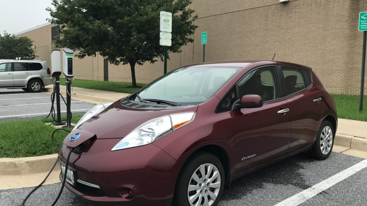 Nissan LEAF at lord baltimore building