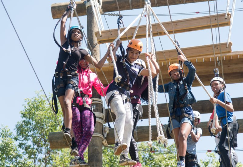 kids on outward bound ropes course