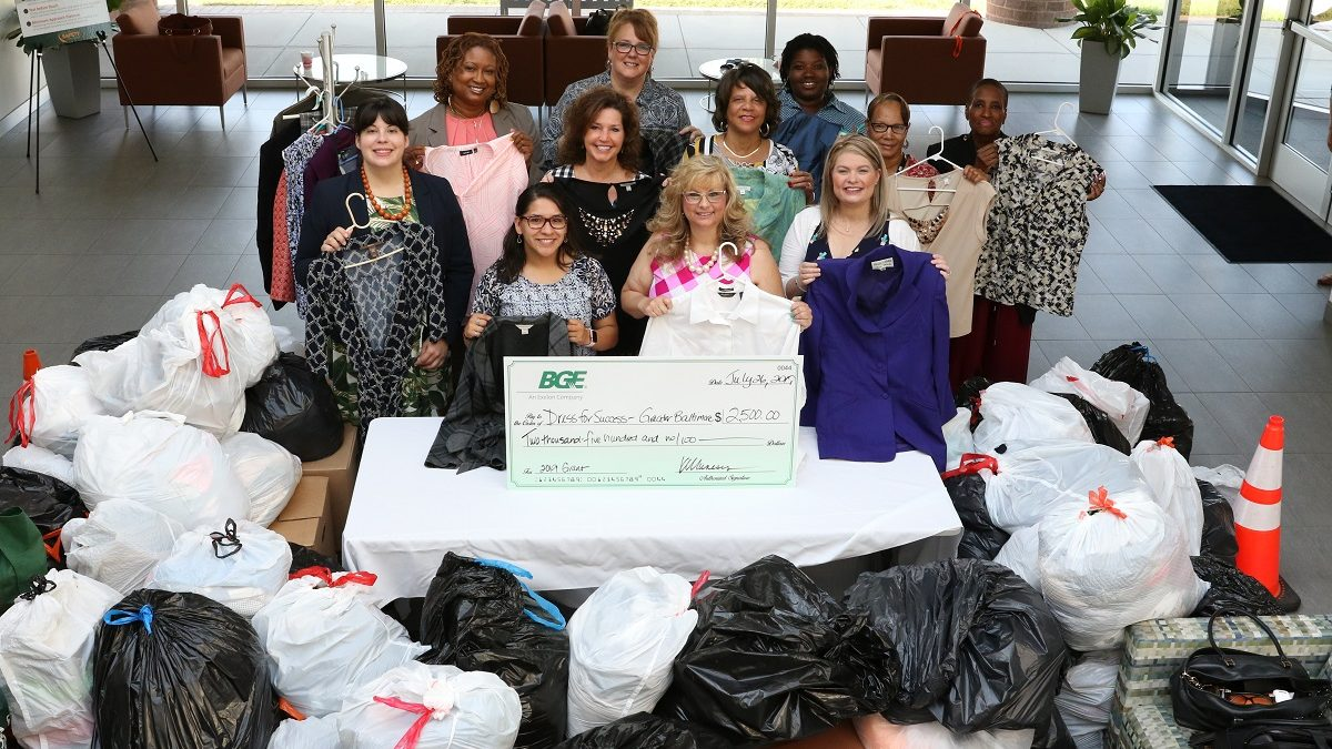 BGE Suited to Succeed donation drive 2019
