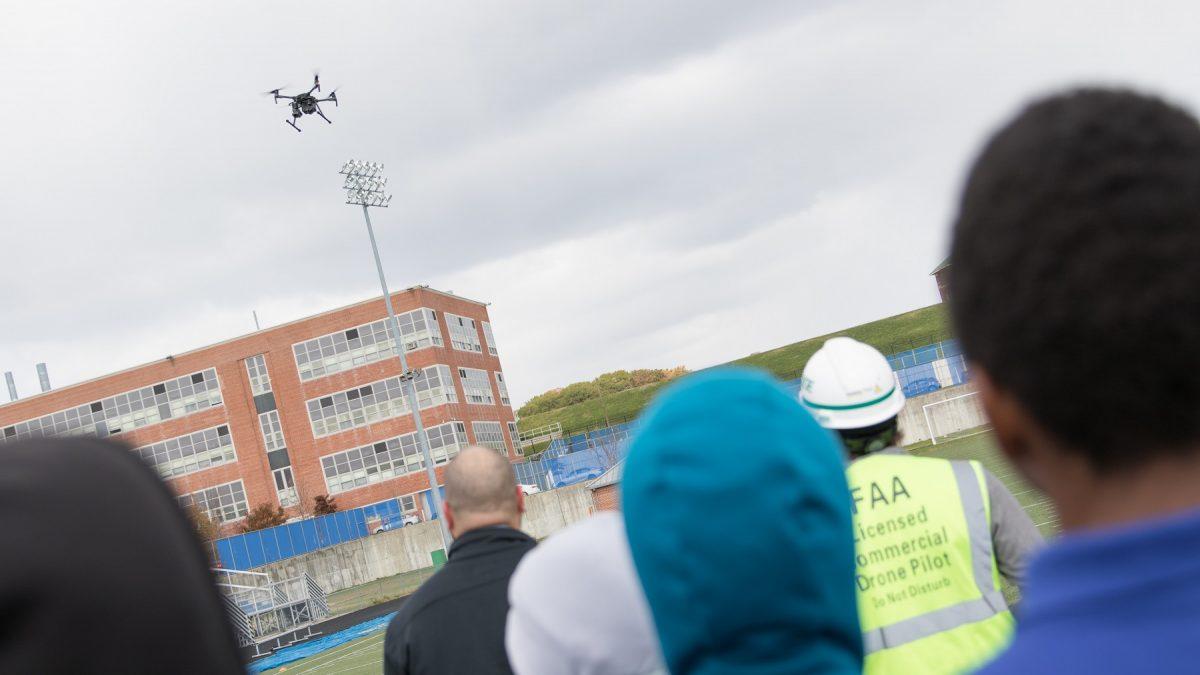 BGE drone team at Mervo