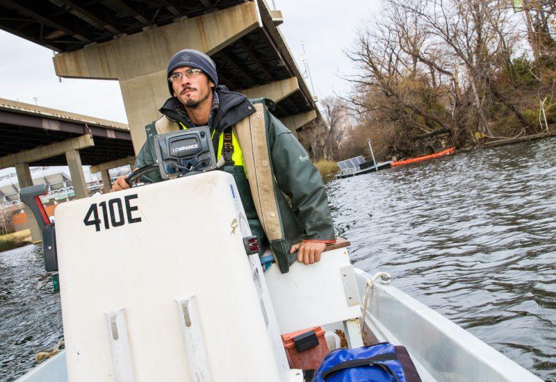 Cy Applebee-Kellett in the Patapsco River