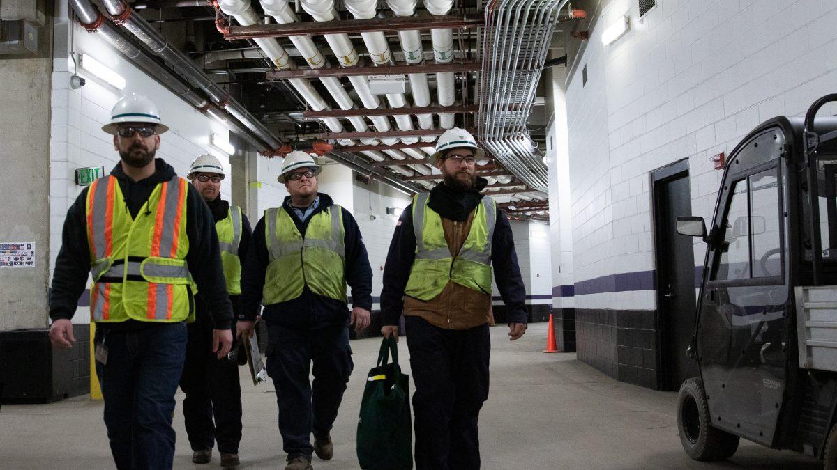 BGE EDRU crew in M&T Bank Stadium