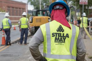 Stella May crews in west Baltimore work on the BGE natural gas system.