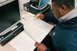 Dre Mills studies BGE's procedures