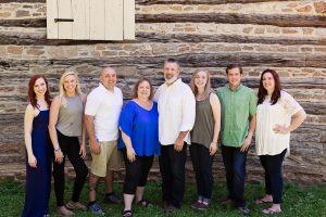 The Long family has long cheered on Jessica. From left: Hannah, Jessica, Steven, Beth, Steve, Grace, Joshua and Amanda.