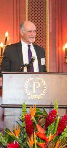 Ed Farrington, M.J. Electric, LLC, accepting his company's award.