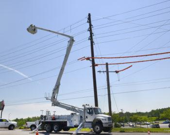 Photo of overhead infrastructure